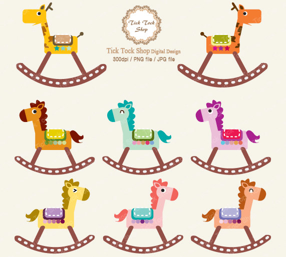 Carousel clipart rocking horse (48+) rocking clip horse baby