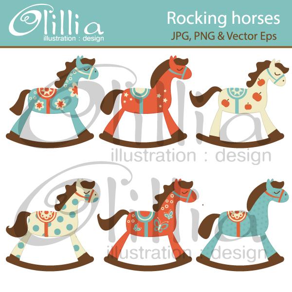 Carousel clipart rocking horse Horses horses invitations  clipart
