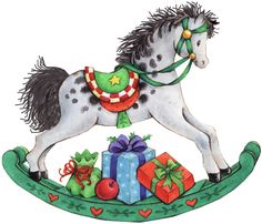 Carousel clipart rocking horse Commercial horse Carousel presents Use
