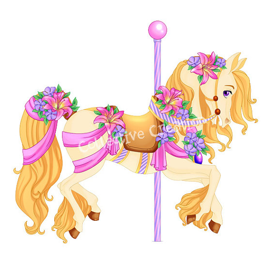 Carousel clipart rocking horse Scrapbooking of Paper for Carousel