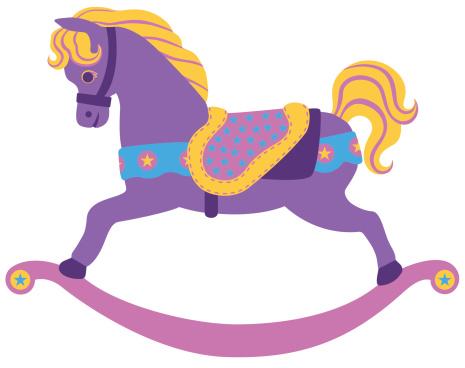 Carousel clipart rocking horse Saddle HORSE ART  CLIP
