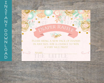 Carousel clipart ticket Peach tickets Pink Baby Shower