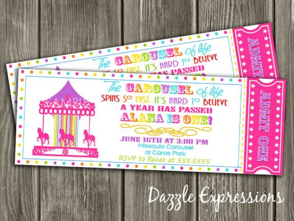 Carousel clipart ticket 109 Carousel Ticket You Rainbow