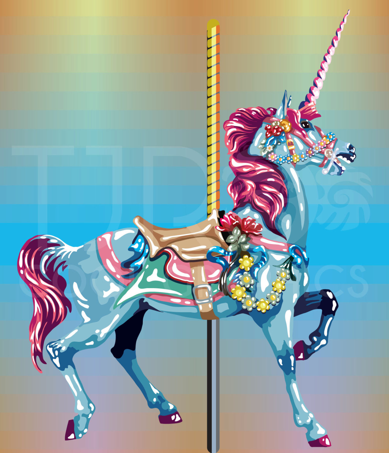 Carousel clipart unicorn Round Realistic PNG Realistic Clip