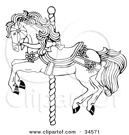 Carousel clipart victorian Graphics coloring horse horse and