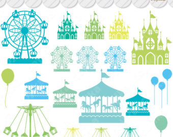 Carousel clipart victorian Etsy pieces 48 Clip files