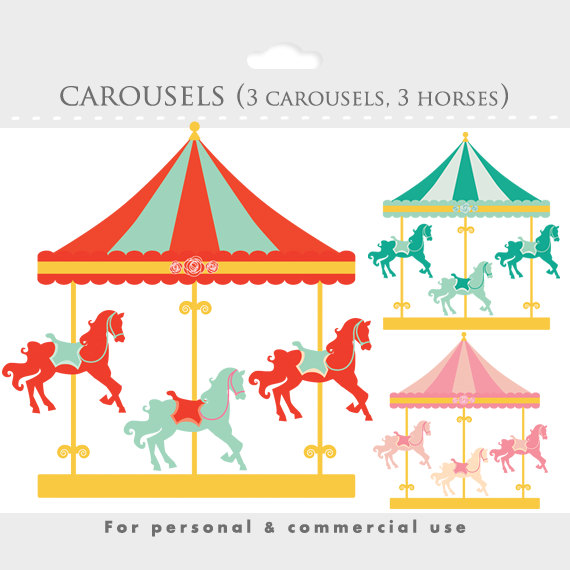 Carousel clipart victorian Art round park clip Carousel
