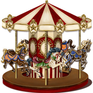 Carousel clipart victorian Polyvore Carousels Merry Rounds carousel