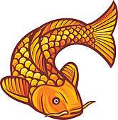 Carp clipart common carp Fish Koi Art GoGraph Fish