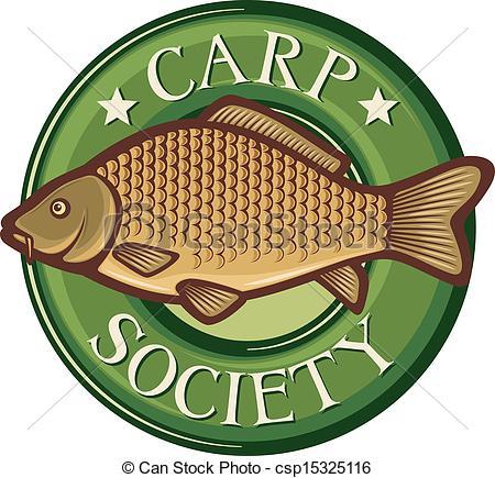 Carp clipart common carp Carp society Vector symbol Clip