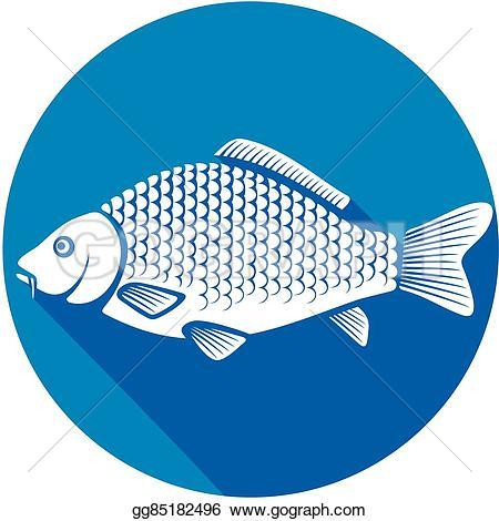 Carp clipart common carp Illustration icon Illustration Vector gg85182496