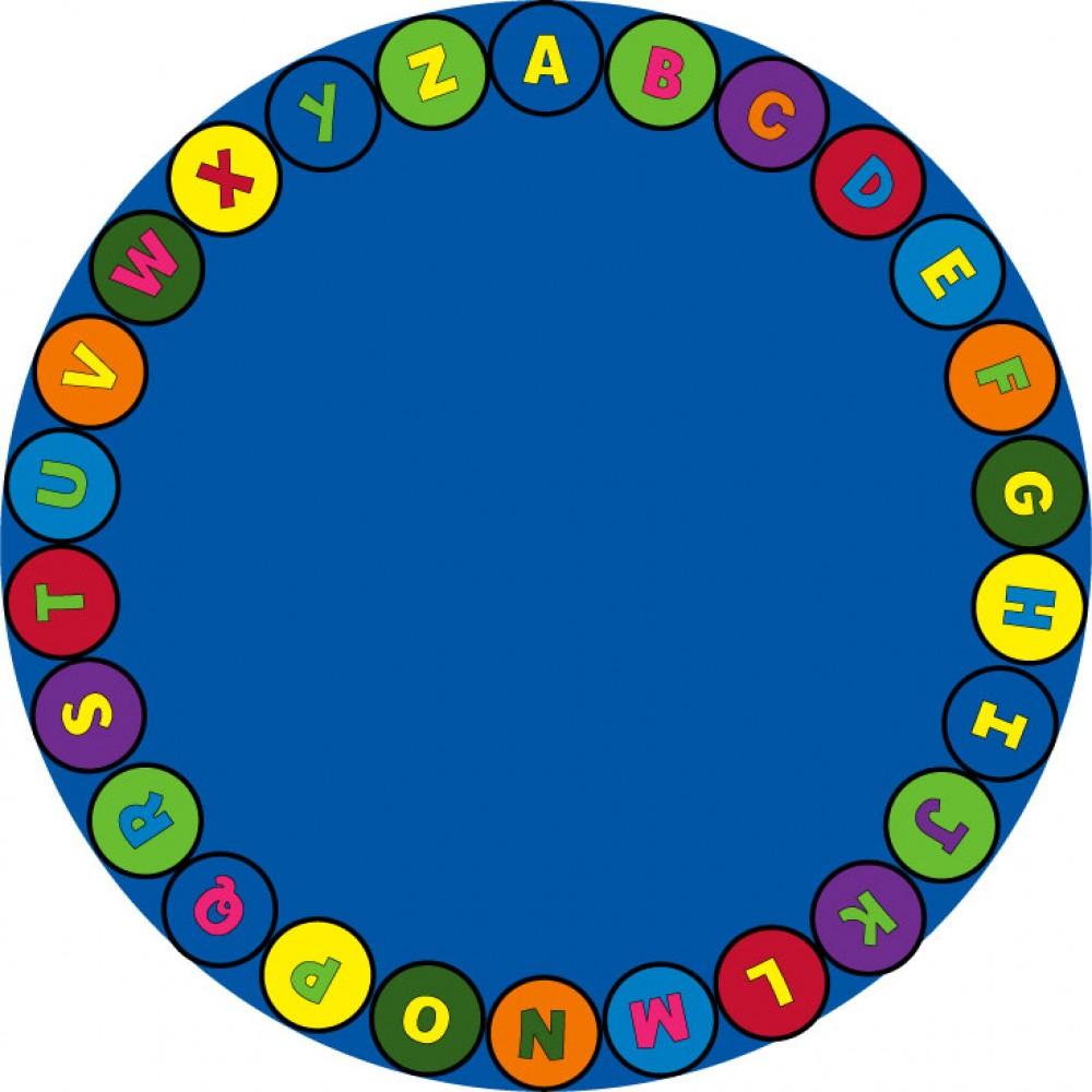 Carpet clipart alphabet Circle  Alphabet Carpet Round