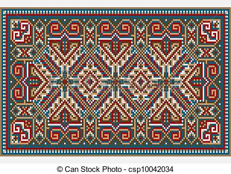 Carpet clipart ethnic Picture EPS 011 vector bright