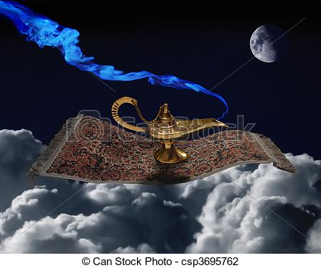 Carpet clipart magic carpet Magic magic of lamp Art