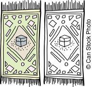 Carpet clipart prayer mat In Isolated Illustrations EPS