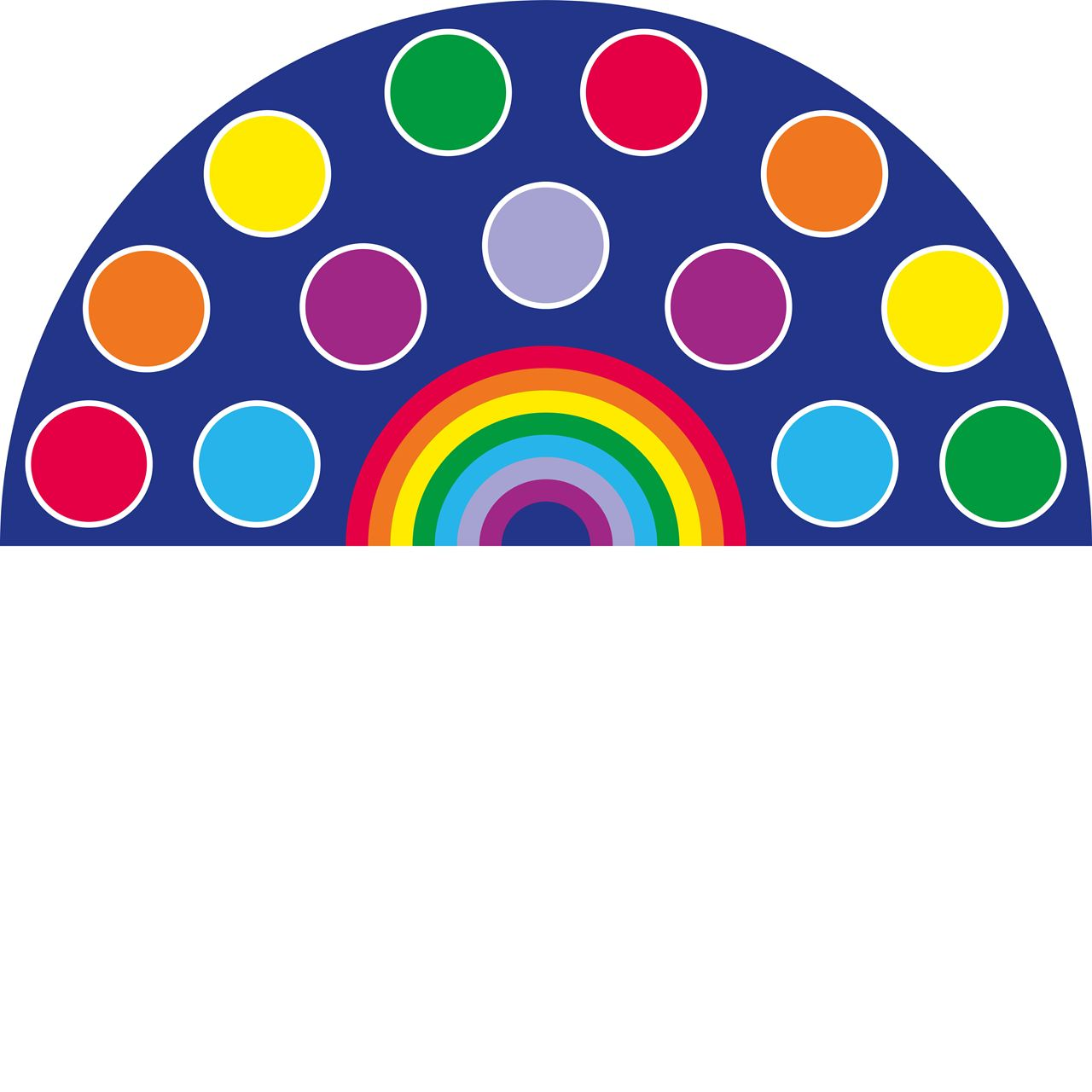 Carpet clipart rainbow Circles Rainbow Carpet schools Carpet