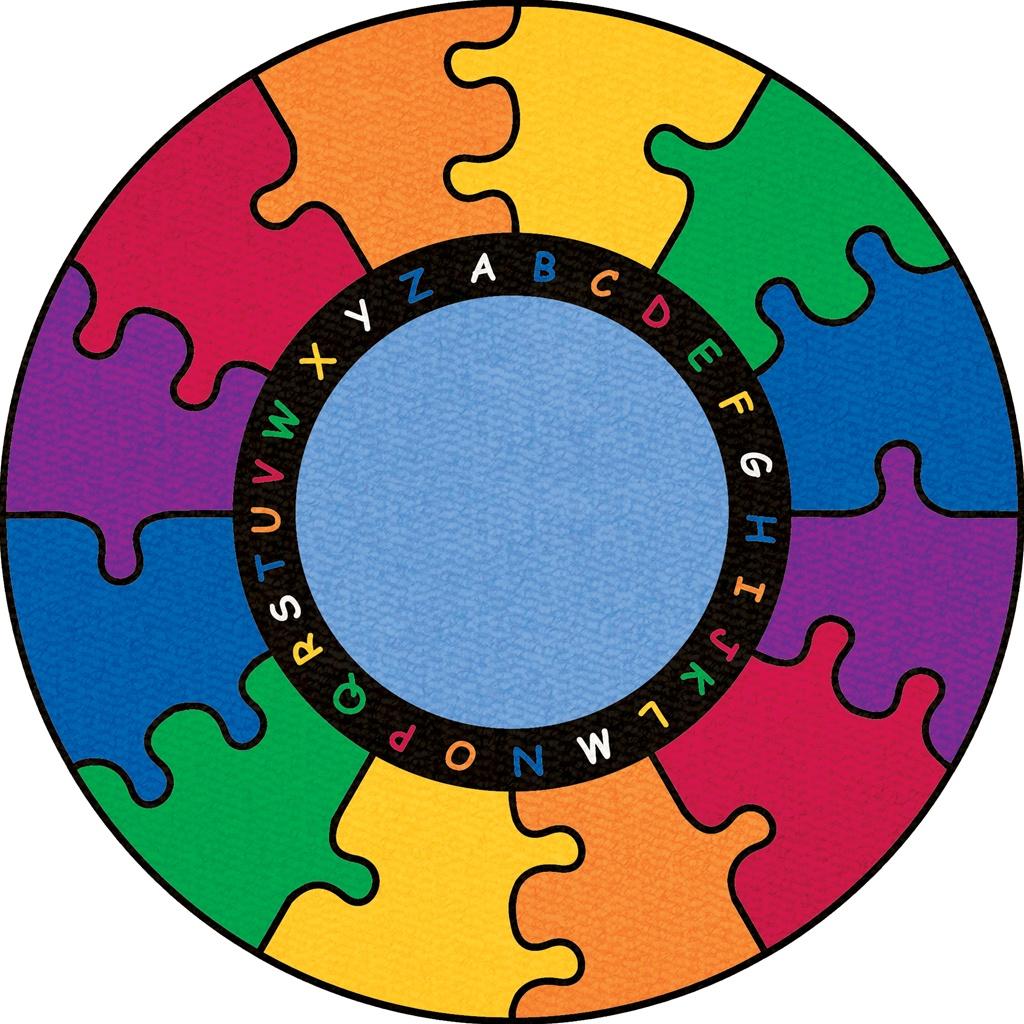 Carpet clipart rainbow Puzzle Rainbow Rug ABC Red