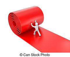 Carpet clipart rolling Red 3d on Clipart white