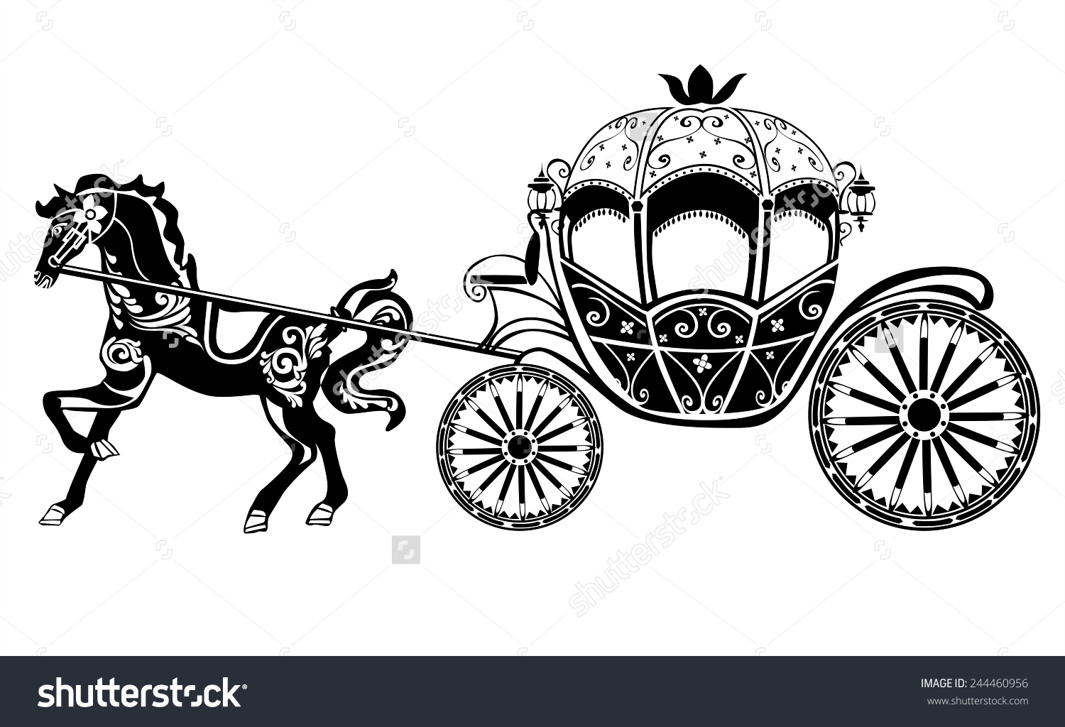 Carriage clipart Carriage a horse Clipart And
