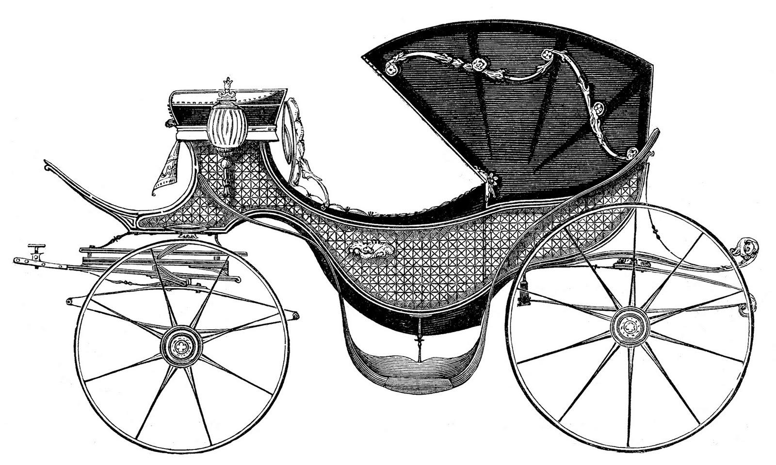 Carriage clipart Princess // fit Art Antique