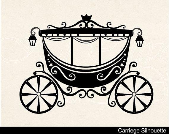 Carriage clipart Clip instant art clip princess
