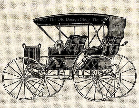 Carriage clipart antique shop Antique Clip digital Horse Art