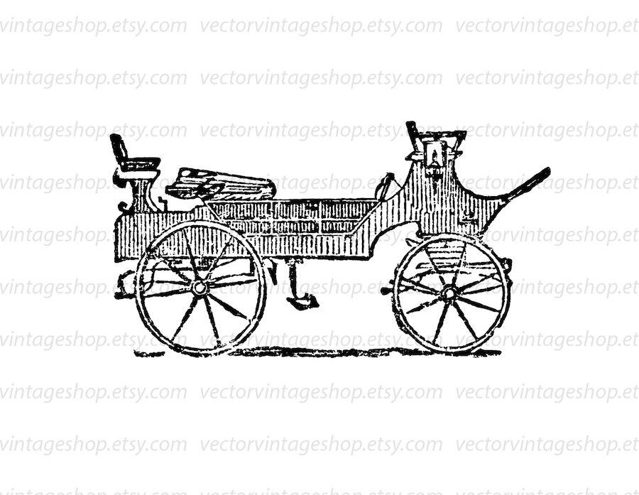 Carriage clipart antique shop Horse Commercial digital Antique Use