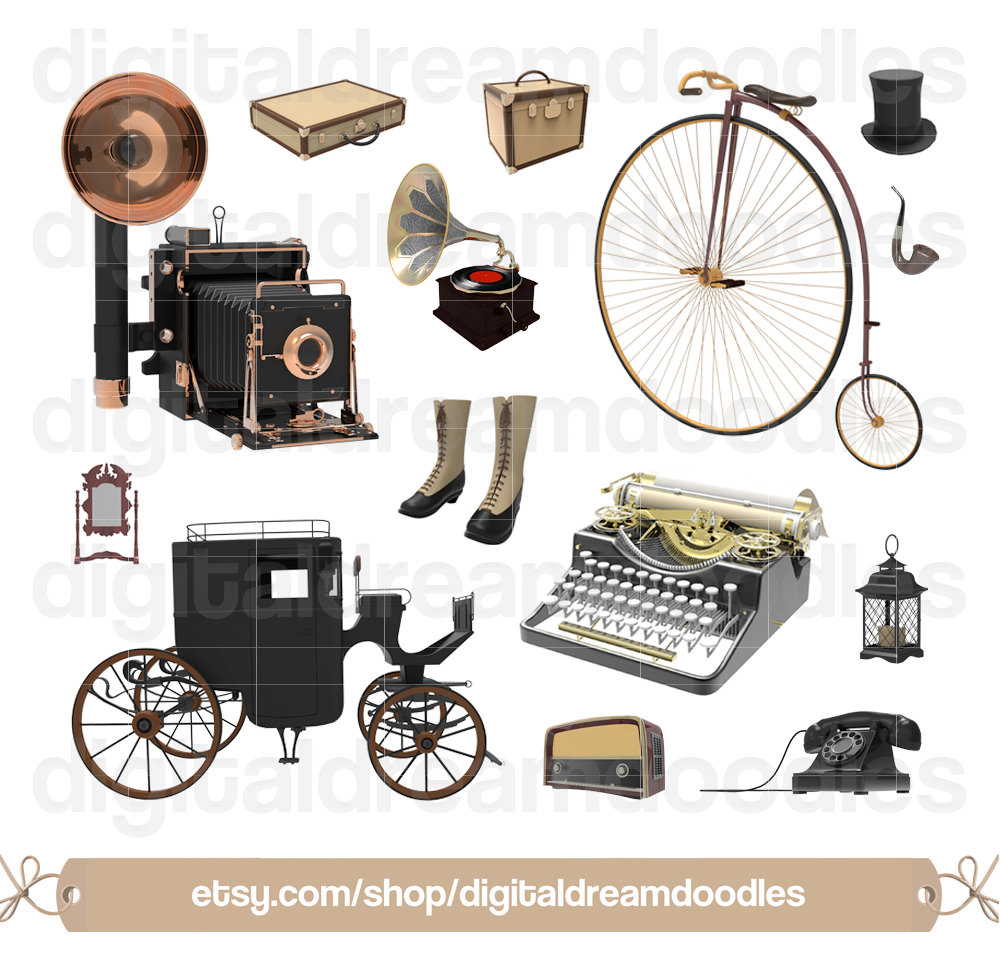 Carriage clipart antique shop Typewriter Clipart  Antique Art
