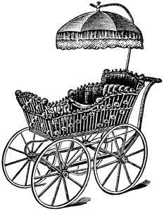 Carriage clipart antique shop Printable magazine black Pram ~