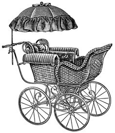 Carriage clipart antique shop Page Vintage baby baby