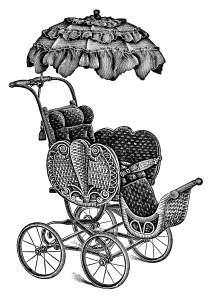 Carriage clipart antique shop Stroller antique catalogue Baby ~