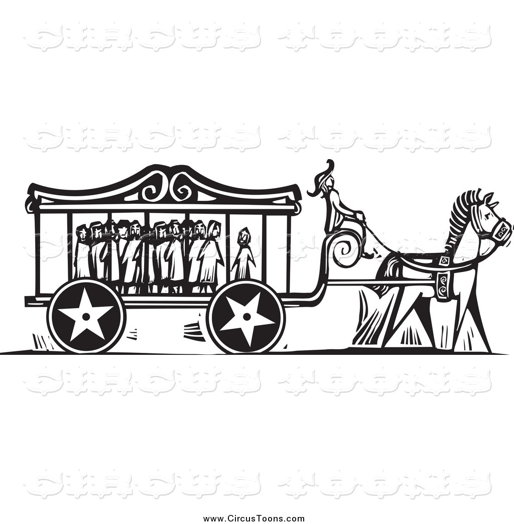 Carriage clipart circus Full and White Clipart Carnival