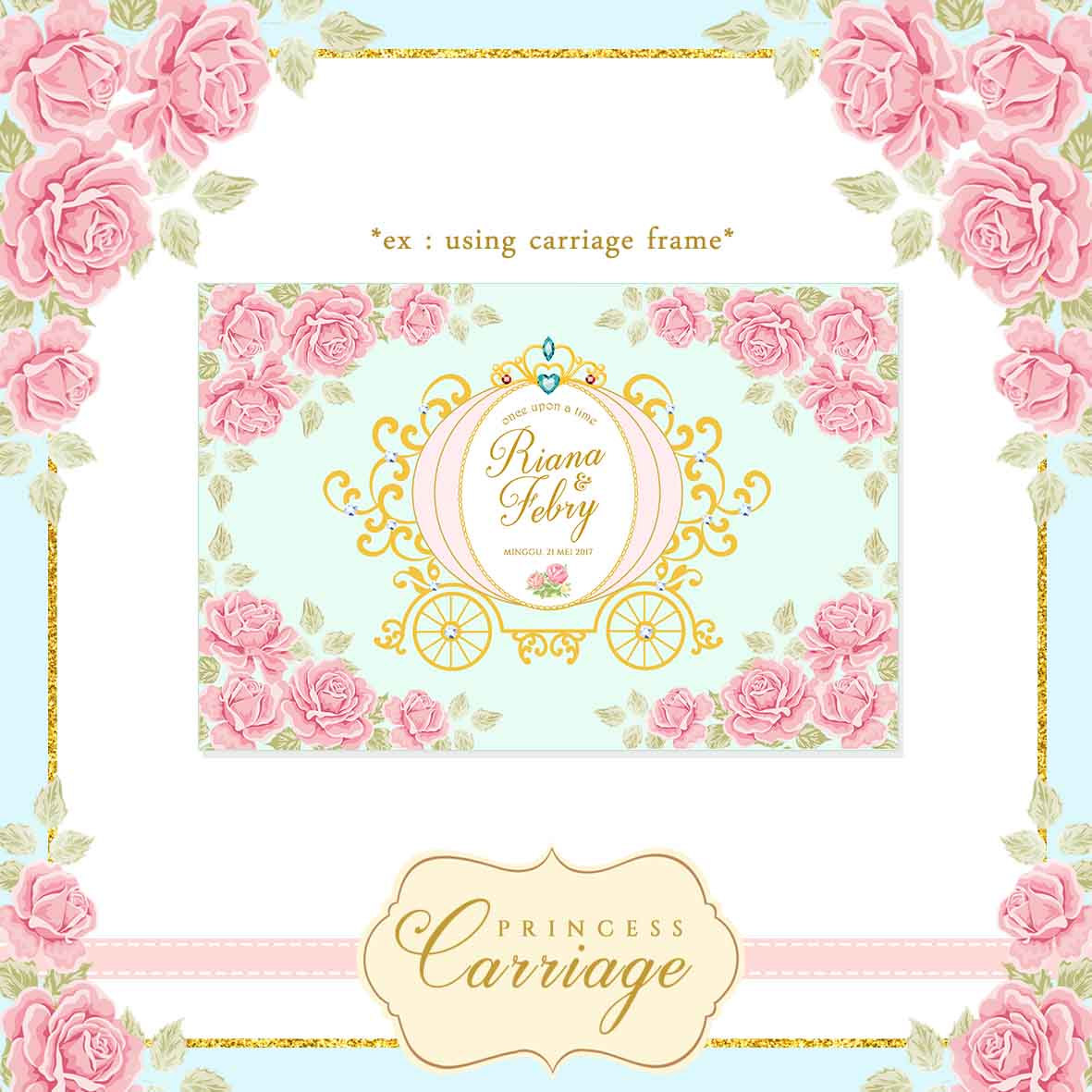 Carriage clipart frame Is Vintage Carriage file digital
