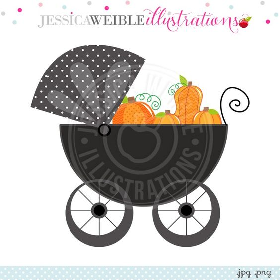 Carriage clipart orange baby Babies Baby Clipart Pumpkins and
