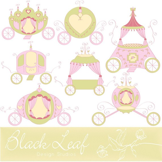 Carriage clipart princess baby Cinderella horse girl Carriages Personal