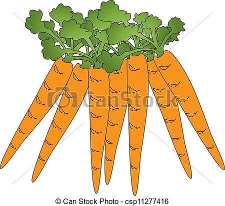Carrot clipart bunch carrot  a of Art of