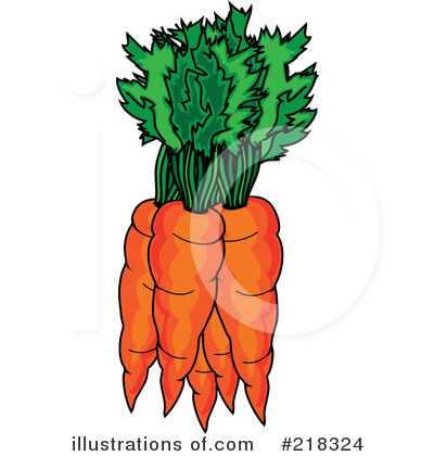 Carrot clipart bunch carrot Pams by Carrots #218324 Illustration