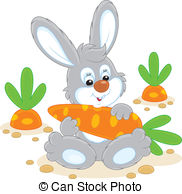 Carrot clipart bunny Carrot Rabbit 169 sitting Art