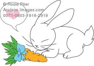 Carrot clipart bunny Bunny a a on a
