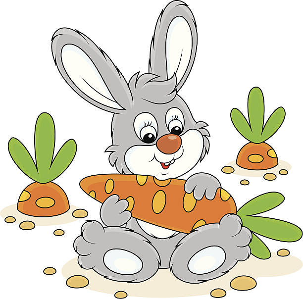 Carrot clipart bunny Art clipart eating Rabbit Clip