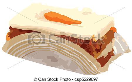 Carrot clipart carrot cake Cake Illustration csp5229697 Slice vector