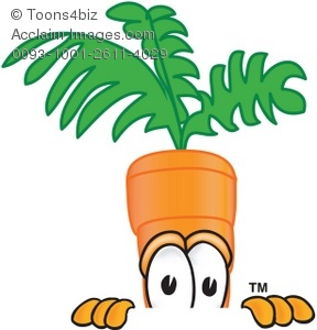 Carrot clipart cartoon Clipart Peeking Over Peeking Over