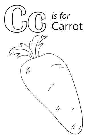 Carrot clipart coloring Letter version coloring C Letter