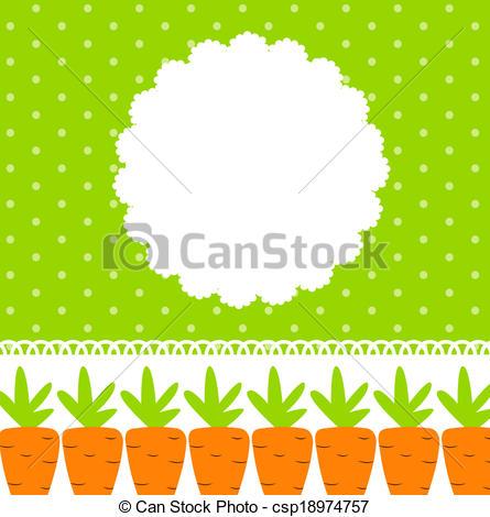 Carrot clipart frame Clipart Carrot Vector csp18974757 Frame