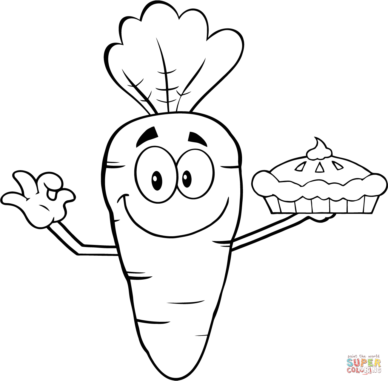 Carrot clipart gajar Pages Smiling Free coloring Coloring