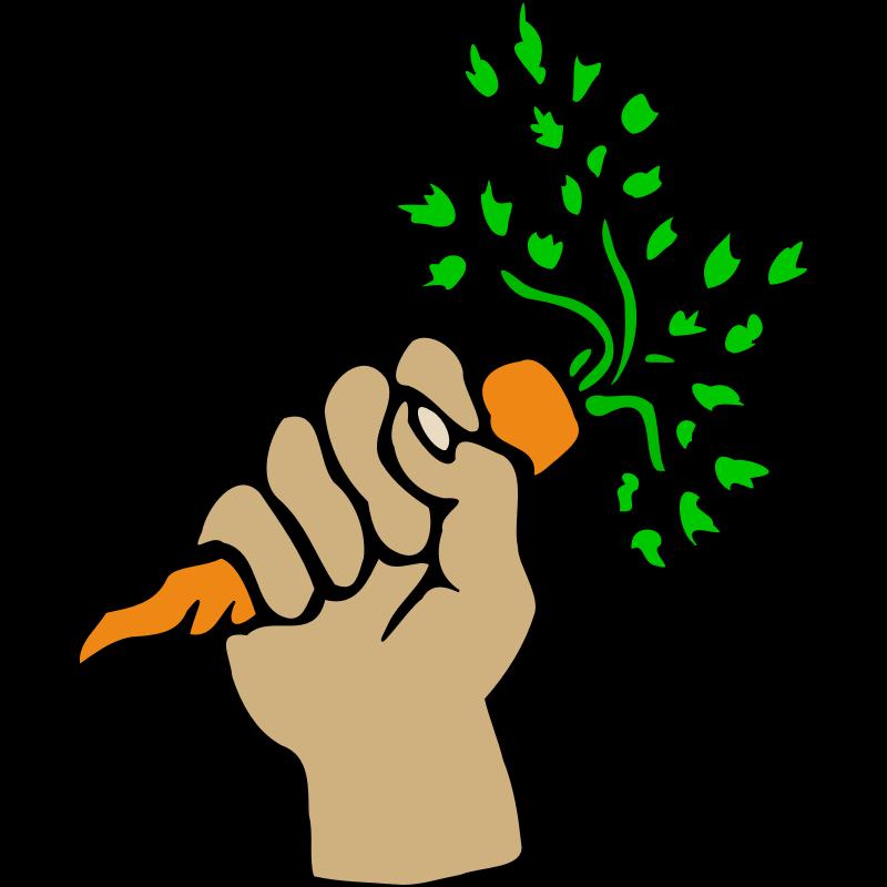 Carrot clipart half eaten Art Carrot Hand carrot Clip