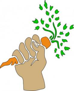 Carrot clipart long Carrot Clip Art Holding Download