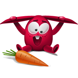 Carrot clipart red Rabbit IconBug Carrot ClipArt Red
