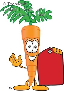 Carrot clipart red Holding Holding Red Price Cartoon