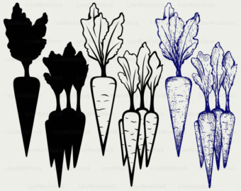 Carrot clipart silhouette Clip carrot svg Carrot silhouette